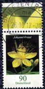 Allemagne 2017 Oblitéré Rond Used Fleur Johanniskraut Millepertuis Perforé Bord De Feuille - Used Stamps