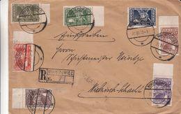 Pologne - Lettre Recom De 1923 ° - Oblit Nikiszowiec - Avec Timbres Fiscaux - Rare - 1919-1939 Republik