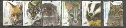 PORTUGAL.ANIMAUX PRÉDATEURS, Genette,loutre,blaireau,loup,renard,chat Sauvage.  Année 2016. Neufs ** - Stamps