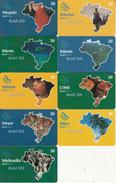 BRAZIL(Brasil Telecom) - Set Of 9 Cards, Brasil 500, Tirage 5000, 04/00, Used - Brasilien