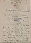 PATIALA State  1A  Revenue Type 17 K&M 173  On Document  # 00400 D Inde India Fiscaux Fiscal Revenue - Patiala