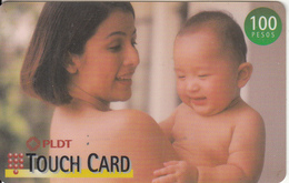 PHILIPPINES(chip) - Mother & Child, PLDT Prepaid Card 100 Pesos, Exp.date 31/12/00, Used - Philippines