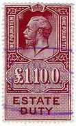 (I.B) George V Revenue : Estate Duty £1 10/- - 1902-1951 (Kings)
