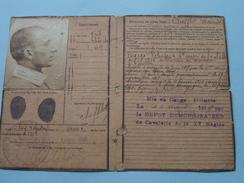 Bureau De Recrutement MARSEILLE (2856) : CHIFFLOT Maurice Né 1894 - Classe 1914 - Anno 1918 ( Zie Foto's ) ! - Vieux Papiers