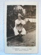 Ancienne Carte Postale L'AMÉLIE Cuisinier En Chef Hotel Carton à LAMURE - Lamure Sur Azergues