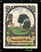 German Poster Stamp, Reklamemarke, Vignette, Photography, Photo, Camera, Dog, Fotografie, Foto, Kamera, Hund - Fotografía