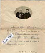 VP11.307- ROMILLY SUR SEINE 1907 - Faire - Part D'Anniversaire Des Noces De Platine Mariage De Mr & Mme CARDON - GOBINOT - Wedding