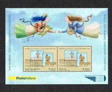 2006 San Marino Foglietti --mostra Filatelica Le Duie Repubbliche Questo è Quello Di Valore - Blocchi & Foglietti