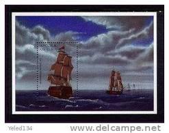 ANGOLA   964  MINT NEVER HINGED SOUVENIR SHEET OF SHIPS     ( - Schiffe