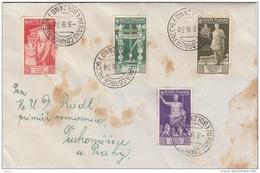 ITALIEN Brief 1938 - 4 Sondermaken Frankatur Gel.v.Merano N.Prag, Brief Fleckig - Luftpost
