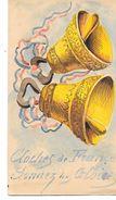 Unique Carte Patriotique PEINTE à La MAIN - CLOCHES DE FRANCE, SONNEZ LES GLOIRES 1915 -Espoir Dans La Correspondance -D - Patriotiques