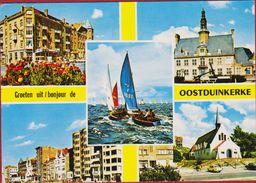Grote Kaart Grand Format Oostduinkerke Koksijde Groeten Uit 1972 (Hoekschade) - Oostduinkerke