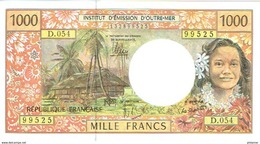 D.054 Billet Banque Caledonie Tahiti Polynesie Wallis Banknote 1000 F Cfp Monnaie Kanak Tahitien DERNIER Neuf UNC - Frans Pacific Gebieden (1992-...)