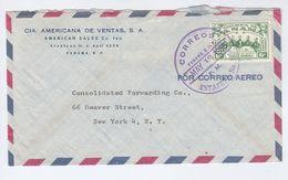 1956 Air Mail PANAMA COVER Americana Co To USA, Thomas Herrera Stamps - Panama