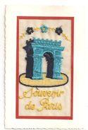 Souvenir De Paris - Carte Brodée; Arc De Triomphe  -(C.1699) - Bordados