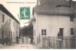 73 - CHAMPAGNEUX : ROUTE DE YENNE . ANIMATION . - Autres Communes