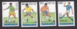 Tanzania, Scott #518-521, Mint Hinged, Soccer, Issued 1989 - Tanzania (1964-...)