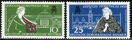 DDR - Mi 649 / 650 - ** Postfrisch (A) - 10-25Pf          Leipziger Herbstmesse 58 - DDR