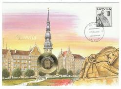 Lituanie // Latvija // Lettre Numismatique Cachet De Riga - Lituanie