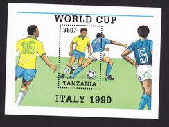 Tanzania, Scott #523, Mint Never Hinged, Soccer, Issued 1989 - Tanzania (1964-...)