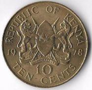 Kenya 1978 10 Cents [C697/2D] - Kenya
