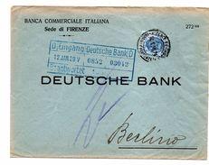EDB5 - REGNO  1,25 Per La Germania. PERFIN BCI Banca Commerciale Italiana Del 1928 - 1900-44 Victor Emmanuel III