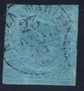 1853 - 2 Emissione 20 Cent. Annullato A Nizza Marittima Il 23 Novembre 1853 - Firmato A.Diena + Altre Firme - Sardegna