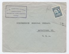 Old COLOMBIA Stamps COVER C.M Vanegas Dussan Co  To Wintersmith Chemical Co USA Chemistry - Colombia
