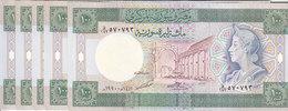 SYRIA 100 LIRA 1990 P-104 LOT X5 UNC NOTES */* - Syrië