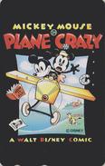 Télécarte Japon / 110-153063 - DISNEY STORE - MICKEY En Avion - PLANE CRAZY - Japan Phonecard / Vache Cow - Disney