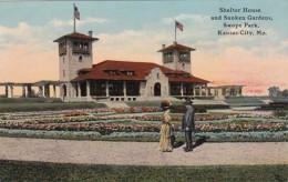 Missouri Kansas City Shelter House and Sunken Gardens In Swope P