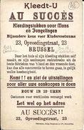"""BRUXELLES (1083) - Textile : Publicité Pour Le Magasin De Prêt-à-porter """"Au Succès"""", 23 Rue De L'Education à Ganshoren. - Ganshoren"""
