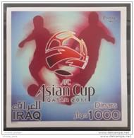 Iraq 2011 MNH - Asian Football Championship Cup - Qatar - Souvenir Sheet - Iraq