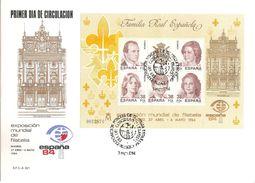 1984-ED. 2754 H.B.-EXPO. MUNDIAL DE FILATELIA-ESPAÑA.84-MAT. ESPECIAL EXPO. DIA 3 MAYO.- - FDC