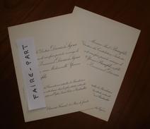 FAIRE-PART MARIAGE 1917 DIONIS Du SEJOUR # BEAUFILS Clermont Auvergne Rambouillet - Wedding