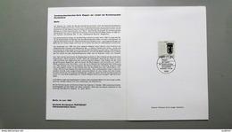 """Deutschland Erinnerungsblatt """"Wappen Der Länder - Berlin"""" Mit Bund 1588 ESST Berlin - Storia Postale"""