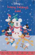 Télécarte Japon / MF-1000357 - DISNEY STORE - MICKEY DONALD Bonhomme De Neige Snowman - Japan Phonecard - Disney