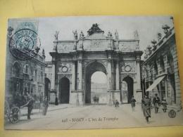 B13 118 - CPA 1905 - 54 NANCY - L'ARC DE TRIOMPHE - ANIMATION ATTELAGE - Nancy