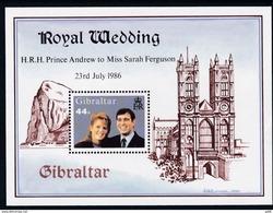 Gibraltar, 1986, 512 Block 10, Hochzeit Von Prinz Andrew Und Sarah Ferguson. MNH **, - Gibraltar