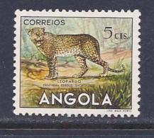 Angola, Scott # 362 Used Leopard, 1953 - Angola