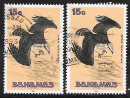 Bahamas, Scott #711 And 711b Used Osprey, 1991,1995 - Bahamas (1973-...)