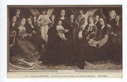 CPA Musée De Rouen La Vierge Et Les Saintes Par David N° 61 ND Phot. - Peintures & Tableaux