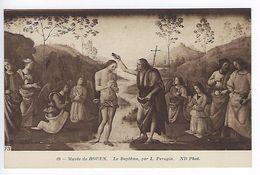 CPA Musée De Rouen Le Baptème Par Perugin N° 69 ND Phot. - Peintures & Tableaux