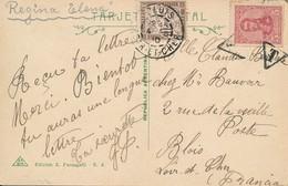 Sur Carte Buenos Aires (Argentine) écrite A Bord Du Paquebot Regina Elena Le 15 Avril 1910 Et Taxée à Blois (41) France - Argentina