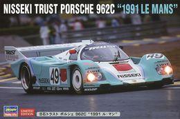 "Nisseki Trust Porsche 962C "" 1991 Le Mans "" ( Hasegawa ) 1/24 - Cars"