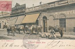 """Sur Carte Buenos Aires Lecheros (Argentine) Oblitération Bateau à Vapeur """"tomaso Di Savoia Piroscafo Postale Italiano"""" - Argentine"""