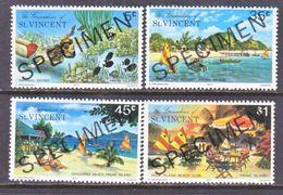 """ST. VINCENT  GRENADINES  123-6    **   """"SPECIMEN""""   PRUNE  ISLAND   TOURISM - St.Vincent (...-1979)"""