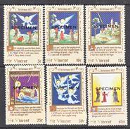 """ST. VINCENT  509-14   **   """" SPECIMEN""""   CHRISTMAS - St.Vincent (...-1979)"""