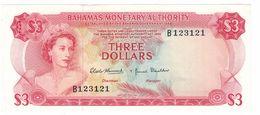 Bahamas 3 Dollars 1968, Aunc. Rare. - Bahamas