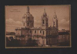 LISBOA POSTCARD 1910years BASILICA DA ESTRELA PORTUGAL LISBON LISBONNE - Postcards